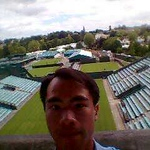 JC above Wimbledon side courts (2)