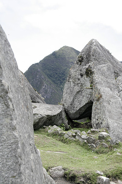 Part of the quarry that the Incas used for stones for Machu Picchu. The fact that the quarry still remains indicates that the Incas did not get to finish Machu Picchu (even after 100+ years of work) - most likely due to word of the Spanish incursion into their land.