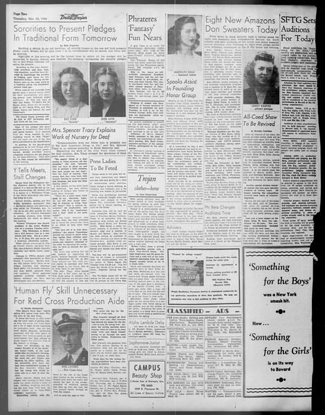 Daily Trojan, Vol. 37, No. 94, March 28, 1946