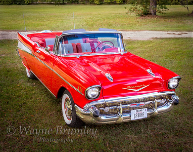 1957 Red Chevy Convertible