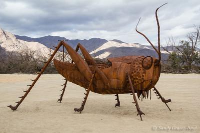 Metal Sculptures in the Desert