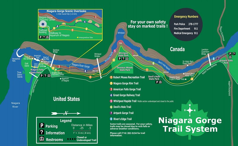 Niagara Falls State Park (Niagara Gorge Trail Map)