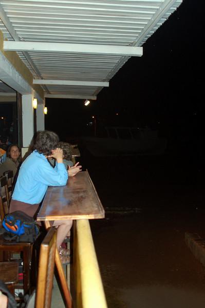 Restaurant for dinner night 1 in San Cristobal... overlooking a couple dozen sea lions on the beach