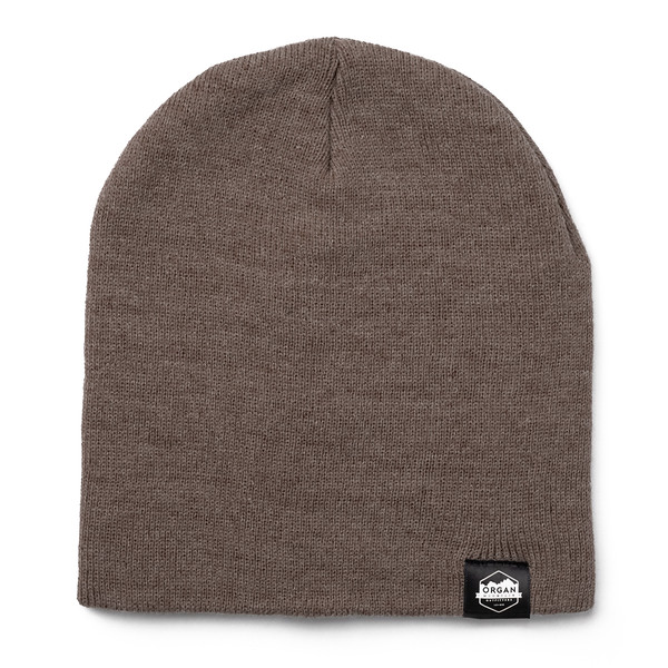 Outdoor Apparel - Organ Mountain Outfitters - Hat - 8 Inch Knit Beanie - Heather Brown.jpg