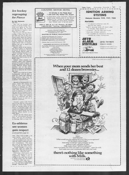 Daily Trojan, Vol. 91, No. 61, December 02, 1981