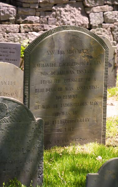 Gravestones & More for NEHGS Catalog