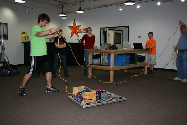 Students testing new drive trains Dec 2011