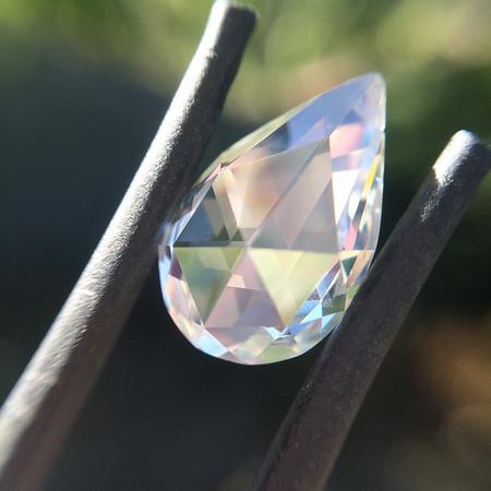 2.53ct Vintage Pear-Shaped Rose Cut Diamond, GIA K, VS2