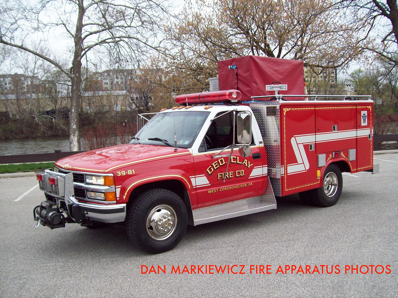 GEORGE CLAY FIRE CO. UTILITY 39 1998 GMC/READING UTILITY