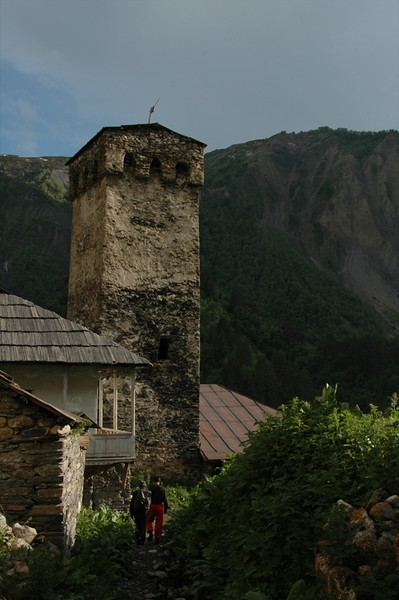 Svan Tower in Adishi - Svaneti, Georgia