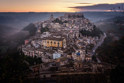sicily: sunrise in ragusa