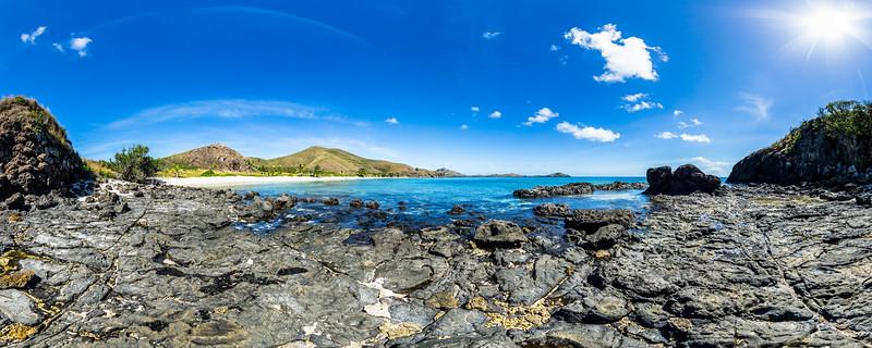 Cape Rocks from Paradise Beach - Yasawa - Fiji Islands