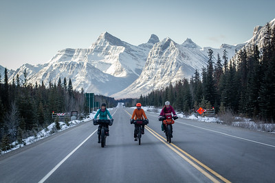 2019-03 Icefields Parkway fatbike odyssey (Ryan's routes)
