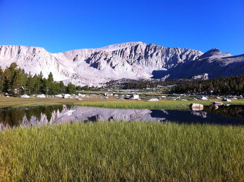 Taken with my iPhone.  Mt. Langley reflection.