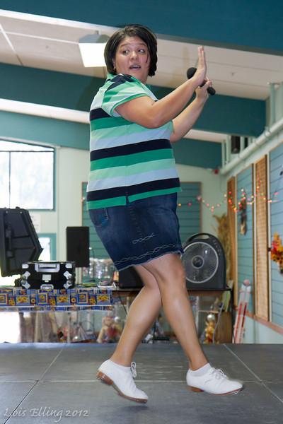 Kellee Ramirez teaching at Late Harvest Stomp, 2012.