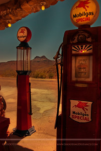 Mobil Gas Pumps, Cool Springs, AZ, 14.5 cents a gallon