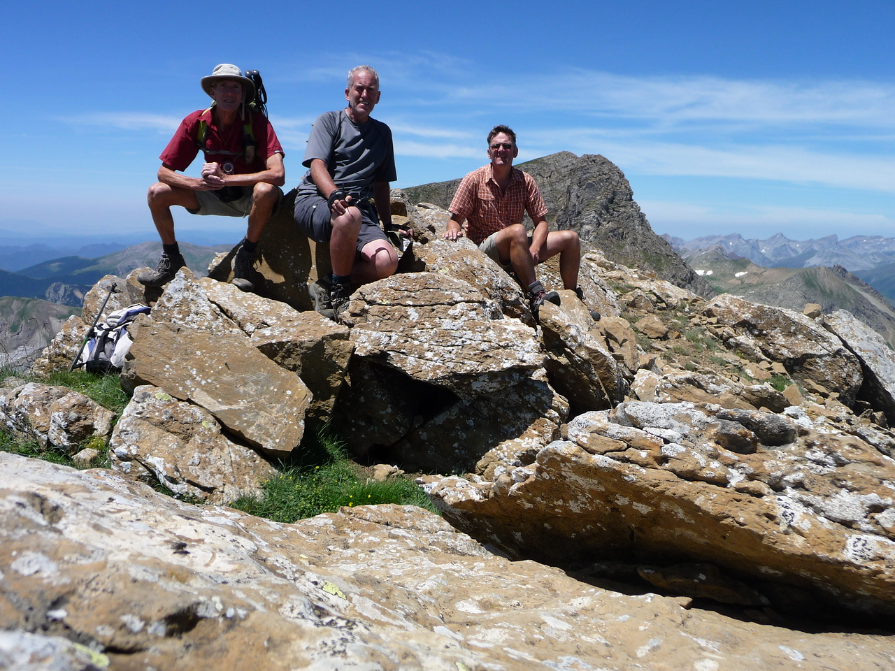 Vic, Edward and Gareth on the summit of El Sombrero 2560m