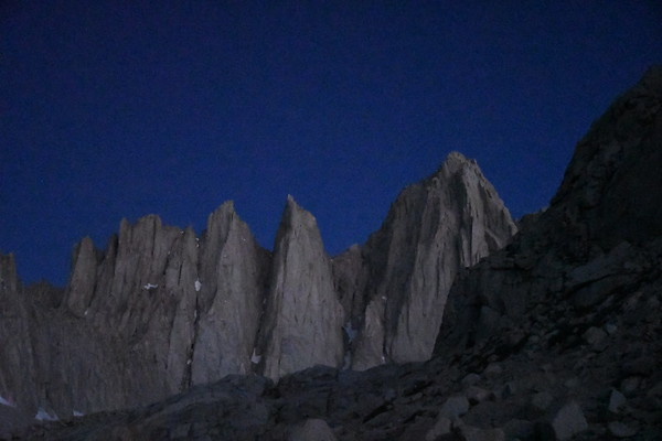 Mt. Whitney Mountaineers Route July 1, 2018