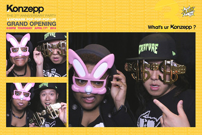 Konzepp Landmark Pop Up Opening x 3rd Anniversary Party 17th Apr 2014
