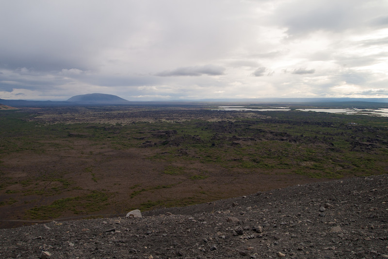 View to the southeast and the lava formations we were in earlier that afternoon.