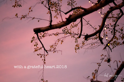 with a grateful heart.2018