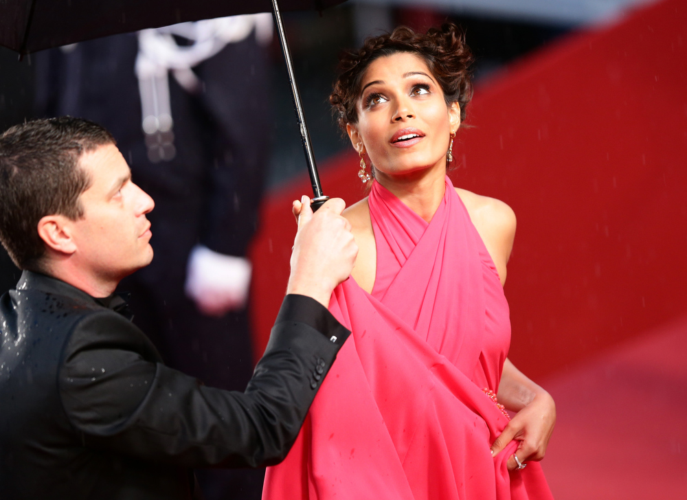 . Freida Pinto attends the Opening Ceremony and \'The Great Gatsby\' Premiere during the 66th Annual Cannes Film Festival at the Theatre Lumiere on May 15, 2013 in Cannes, France.  (Photo by Vittorio Zunino Celotto/Getty Images)