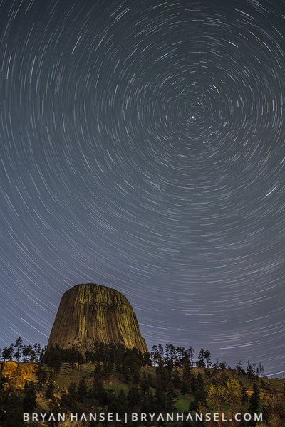 Devil's Tower and Polaris