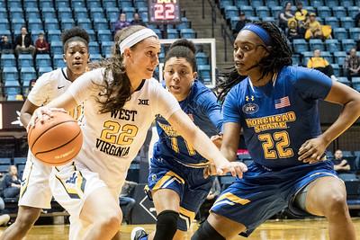 34158 WVU women's basketball action vs Morehead December  2017
