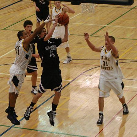 Pioneer at Saline basketball 2009