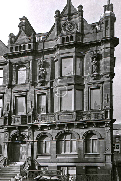 100 West Regent St. The former Masonic Hall, with its statues of the St Johns, Baptist and Evangelist, looked in danger, but it has survived.  