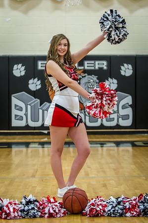 2015-16 Butler High School Basketball Cheerleaders