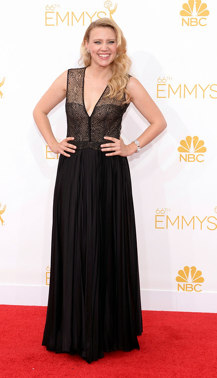 . Kate McKinnon on the red carpet at the 66th Primetime Emmy Awards show at the Nokia Theatre in Los Angeles, California on Monday August 25, 2014. (Photo by John McCoy / Los Angeles Daily News)