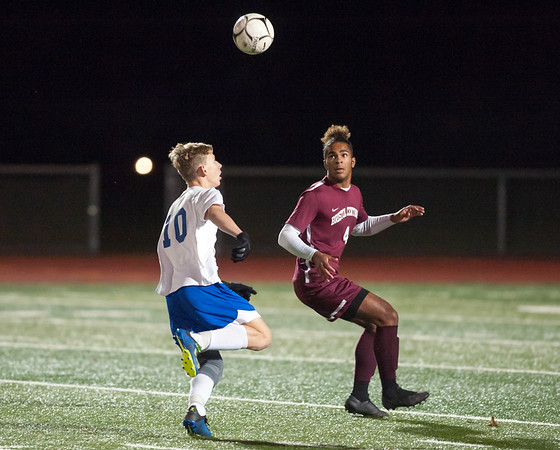 10/29/18 Wesley Bunnell | Staff Bristol Central boys soccer vs Bristol Eastern on Monday night in a game played at Bristol Central High School. Central's