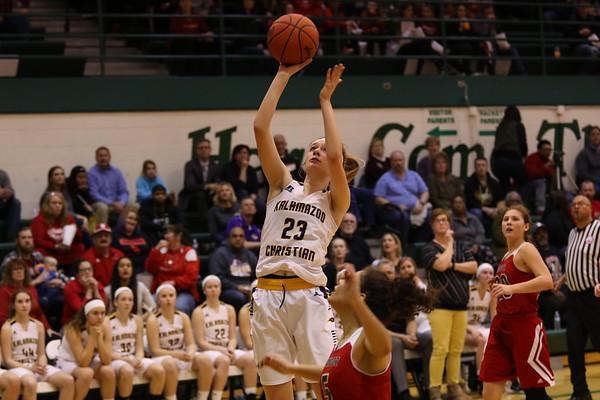 Basketball Girls Districts vs Bangor - KCHS - 2/28/18