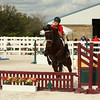 Horse and Rider Jump at a Competition