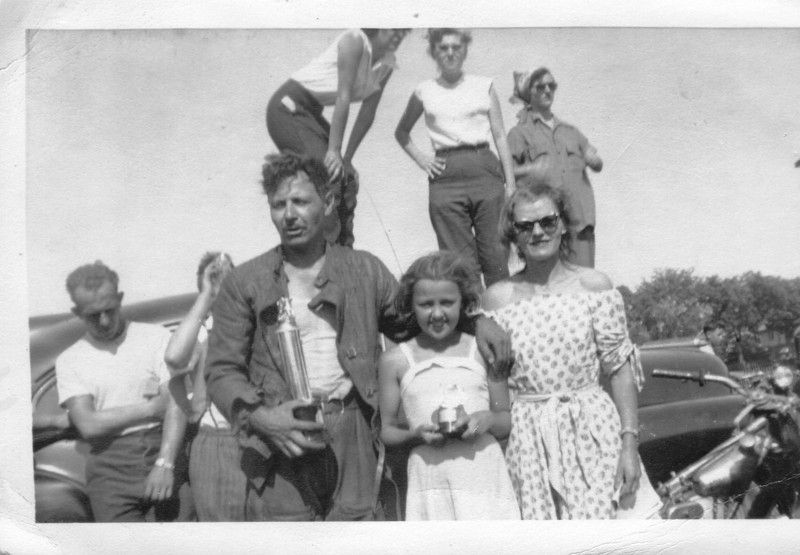 1952 at the Oshawa  Ontarion Half Mile Dirt Track;  Bingley Anne and Irene