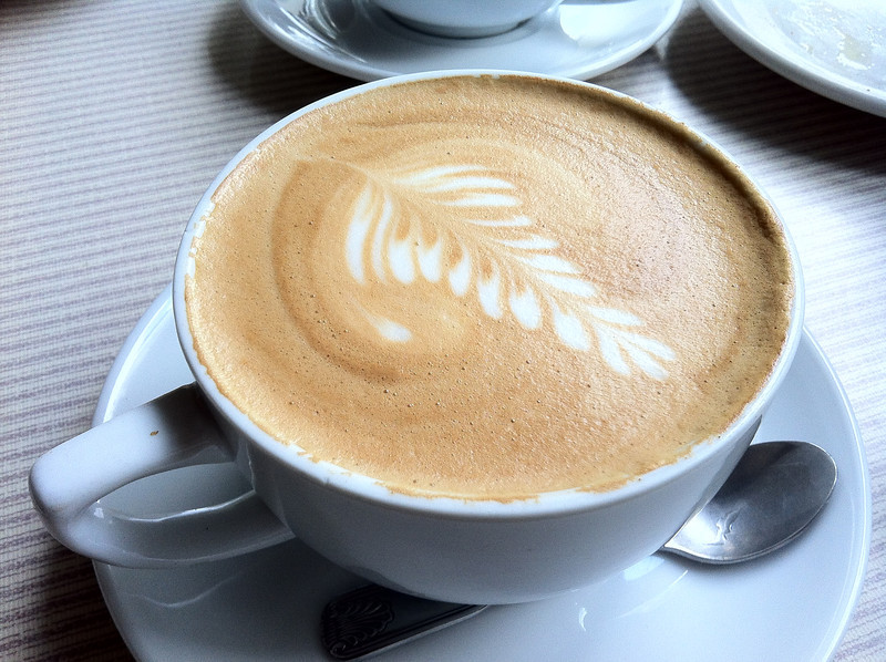 The Iris Cafe latte
