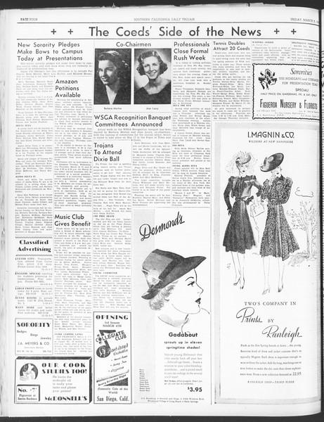 Daily Trojan, Vol. 30, No. 90, March 03, 1939