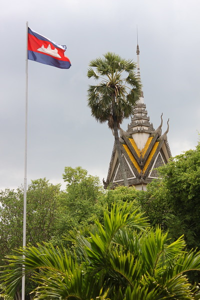 Buddhist memorial at The Killing Fields
