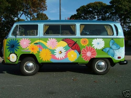 super polluting hippy bus