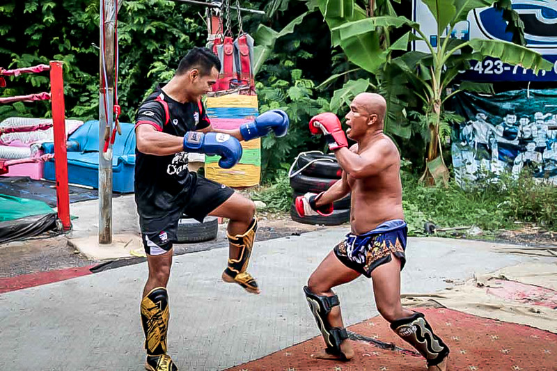 Muay Thai training .