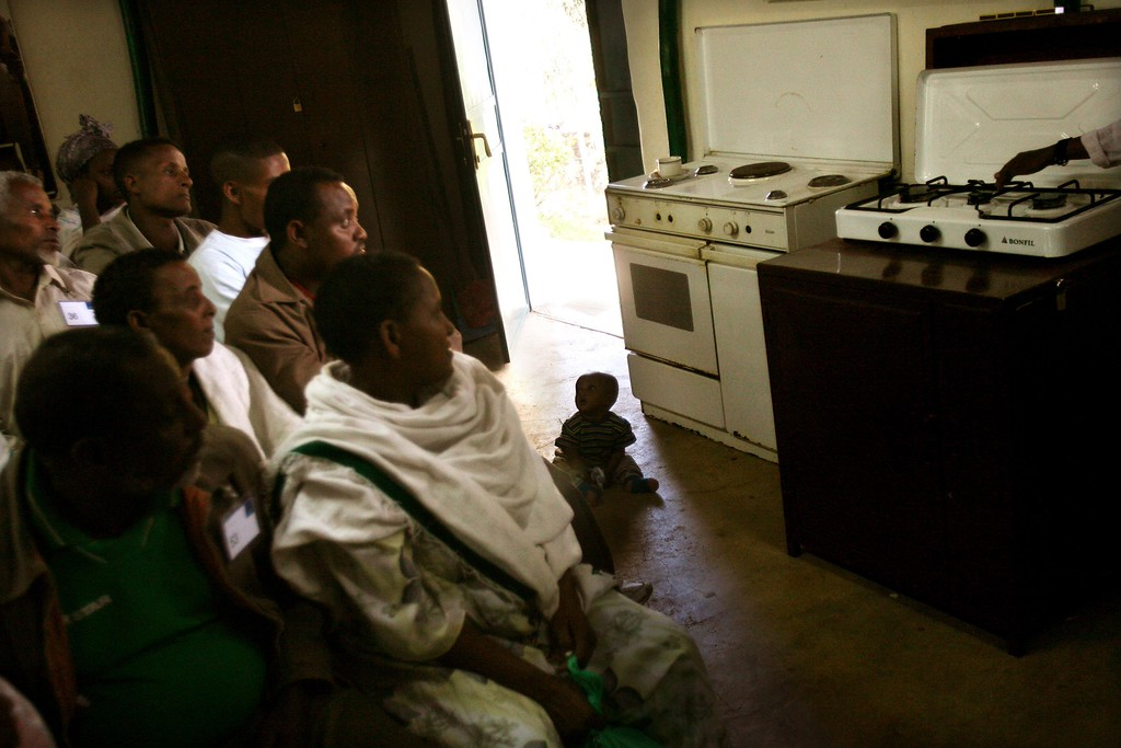 . ADDIS ABABA, ETHIOPIA - MAY 2: Ethiopian Jews are taught to use modern appliances in the Israeli embassy compound before they immigrate to the Jewish state on May 2, 2007 in the Ethiopian capital of Addis Ababa. Hundreds of Ethiopian Jews from Gondar province spent two to three weeks in housing around the Israeli embassy as they prepared for their move to a Western society. Some 2,500 Ethiopians of Jewish origin remain in the East African country as Israel slowly brings them over, a few dozen at a time, on commercial flights. Since 1984, more than 73,000 Ethiopian Jews have been settled in Israel. (Photo by Uriel Sinai/Getty Images)