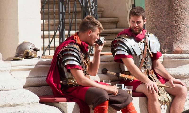 Resting Romans, Split, Croatia