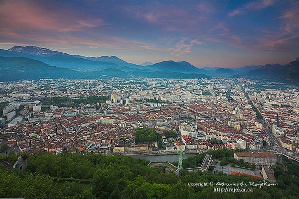 Grenoble from La Bastille, Grenoble
