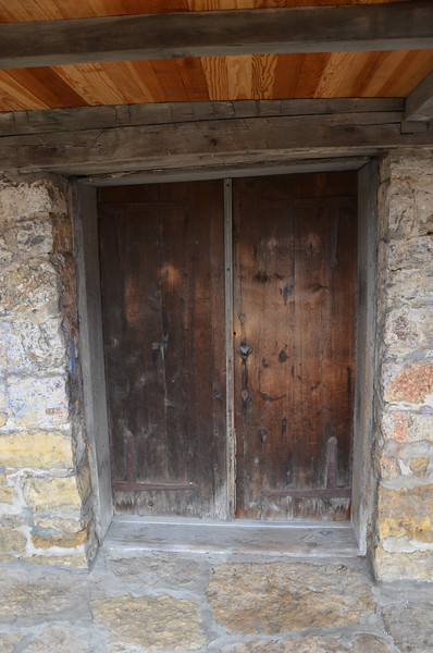Front door of the Dowling House, oldest home in Galena. 1826
