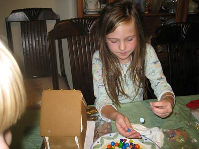 Jackson and Katherine Make Gingerbread Houses