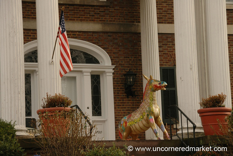 Flag and Donkey - Scranton, Pennsylvania