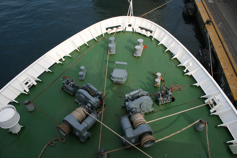 2010 - On board M/S KRISTINA KATARINA : bow operating station.