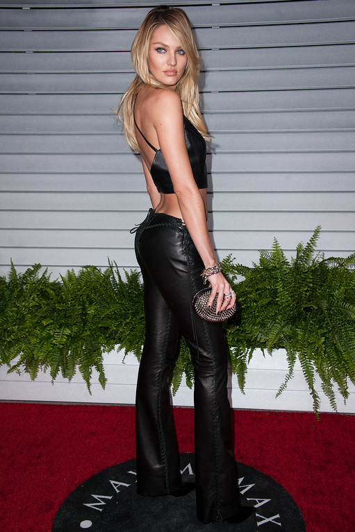 . Candice Swanepoel arrives at the MAXIM Hot 100 Party on Tuesday, June 10, 2014 in West Hollywood, Calif. (Photo by Richard Shotwell/Invision/AP)