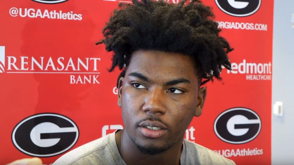 Rayshaun Hammonds during a UGA men's basketball interview on Friday, January 3rd, 2020.